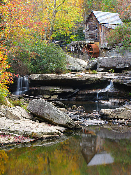 Grist Mill Creek Reflections in Babcock State Park, West Virginia.