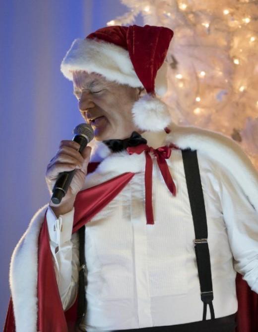 Murray singing for Christmas Carols