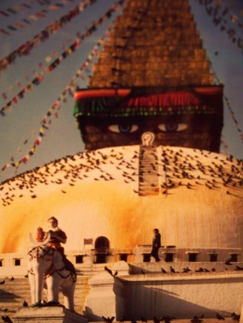Kathmandu Valley in Nepal contains an abundance of Buddhist and Hindu temples. The Great Stupa in Bodnath is a center for exiled Tibetan Buddhists.