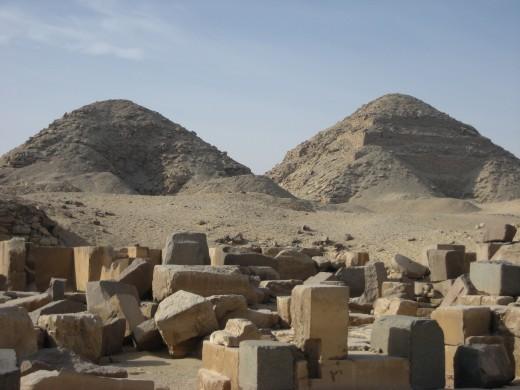 Pyramids of Nyuserre Ini and Neferirkare