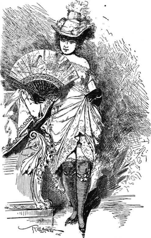 The prostitute circa 1890.