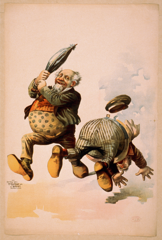 A 19th century humorous cartoon. Choose a picture that interests or inspires you.