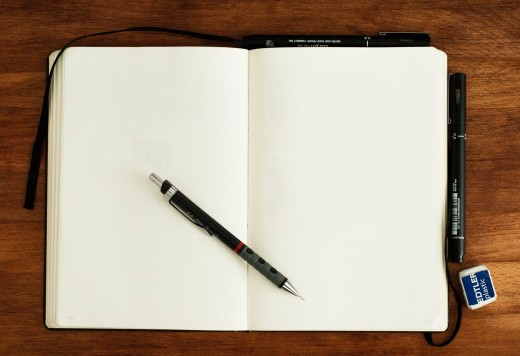 A blank notebook and a woodless pencil are gifts any writer would love.
