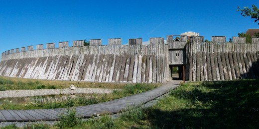 There were two Trelleborg fortified camps, one south of Koebenhavn on Sjaelland (Copenhagen, Zealand), this is the gateway to the southern Skaane site, now Sweden