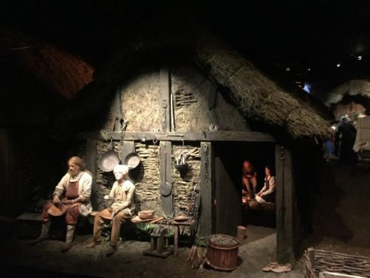 Jorvik Viking Centre 2. The metalwares craftsman and son relax in a break from work