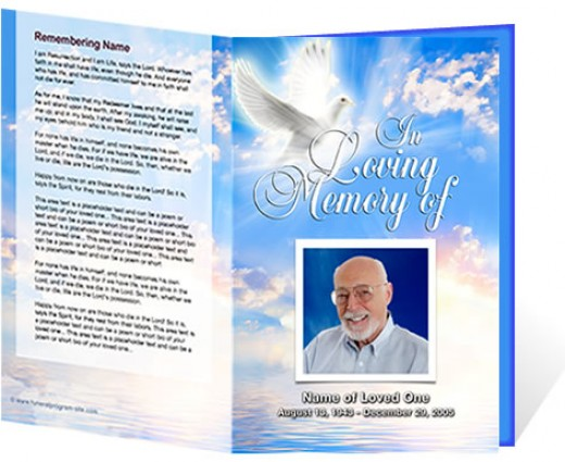 sample obituary funeral program templates – Free Memorial Program Templates
