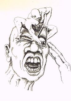 It's been scientifically proven that cluster headaches are caused by tiny demons that stick their hands in people's eyes.