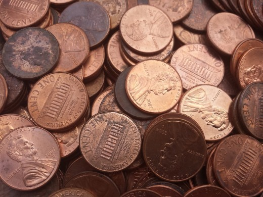 Clean pennies with Coke