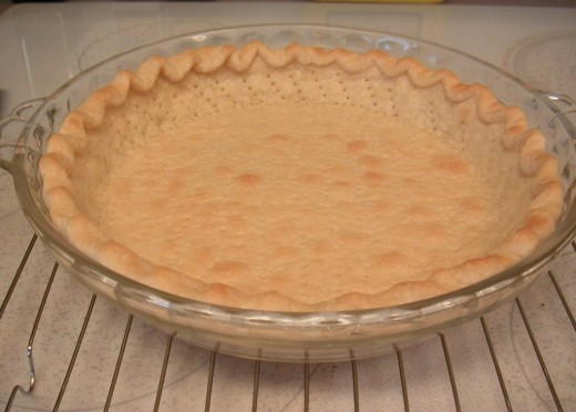 Starting off with a freshly baked, cooled pie crust is key.