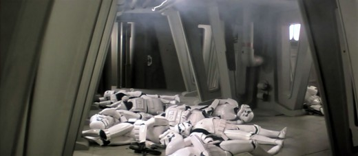 A pile of stormtroopers killed within a minute during the Battle of Endor