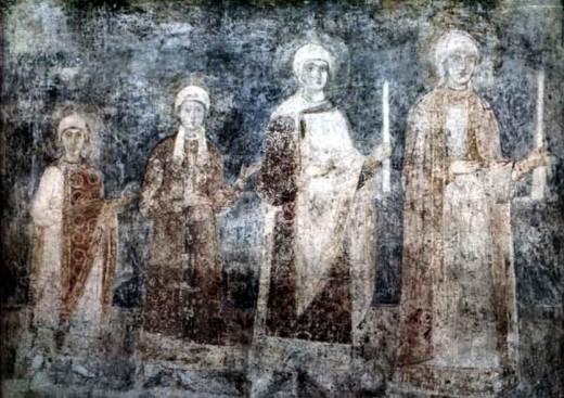 Ellisif and her sisters, daughters of Jaroslav 'the Wise', sisters of Prince Valdemar (Vladimir)