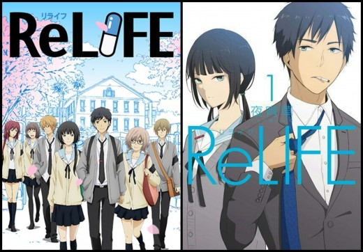 ReLife (Left-Right) Anime and Webtoon