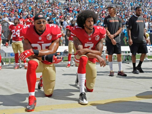 An UNACCEPTABLE protest by two NFL players