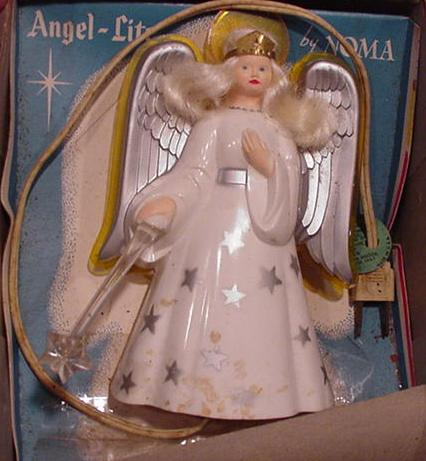 Post-War NOMA plastic, electrified angel tree-topper