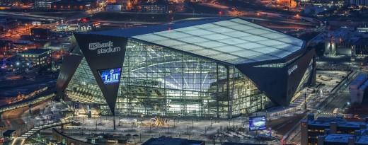 U.S. Bank Stadium. Home of the Minnesota Vikings, and Super Bowl 52