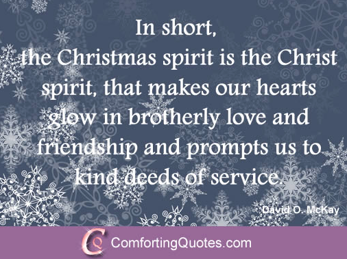 When Christmas comes to an end  the spirit of Christmas can still continue.