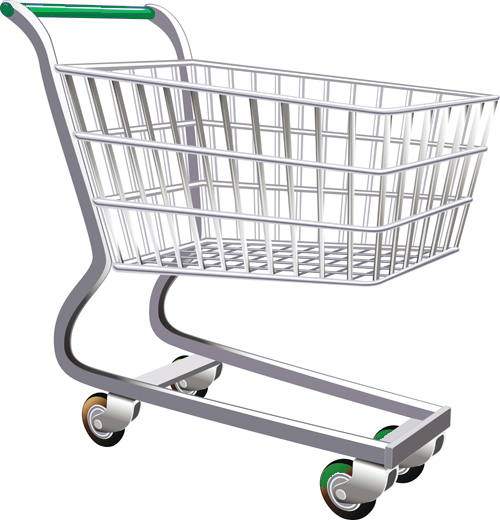 A shopping cart iused by most retail stores