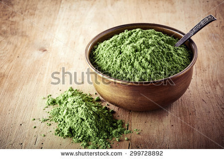 this is actually a picture of wheat sprouts, but it looks identical to kratom in its most used form.  It's degree of danger is arguably identical as well.