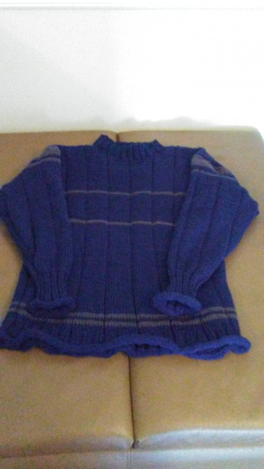 Man's Basic Sweater with Rolled Edges and Mock Turtleneck
