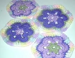African Flower Hexagon Crochet Pattern and Video