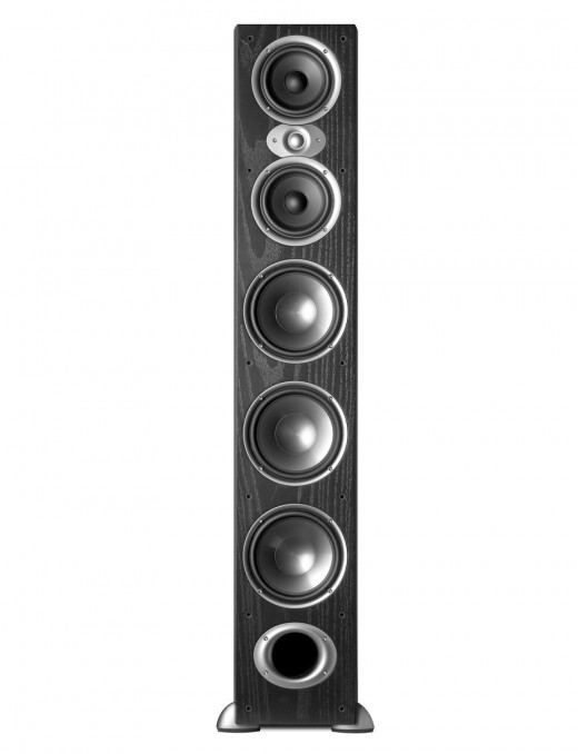 Dual 5.25-inch polymer composite cone drivers, plus three 7-inch polymer composite subwoofers, and one 1-inch silk/polymer composite dome tweeter deliver an effortless mid-range, full and clear bass, and thrilling high frequencies.