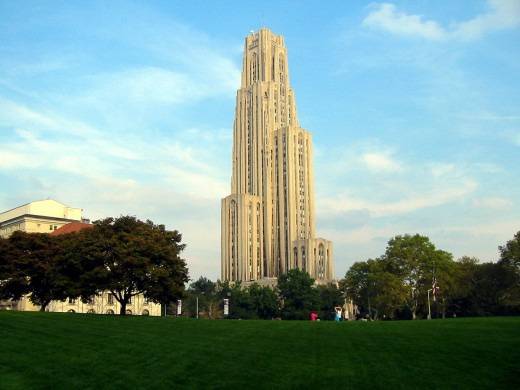 Cathedral of Learning, University of Pittsburgh campus.