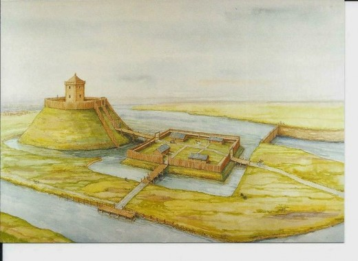 This is the timber castle built at York in AD1068 under the auspices of shire reeve William Malet after the initial one was burnt down in the summer AD1068 rising. This was also destroyed in AD 1069 when the Danes came to help oust William