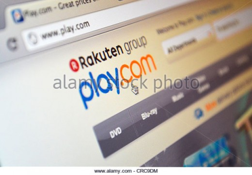 (cc image - Alamy stock photo) Play.com, once a privately owned organisation, now run by the Rakuten group, a Japanese Owned corporation)