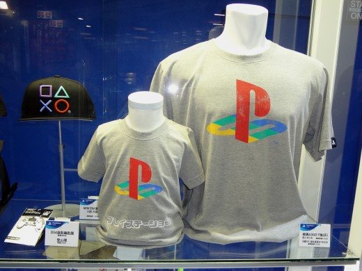PlayStation classic logo gray t-shirts at Taipei Game Show 2017 by Solomon203