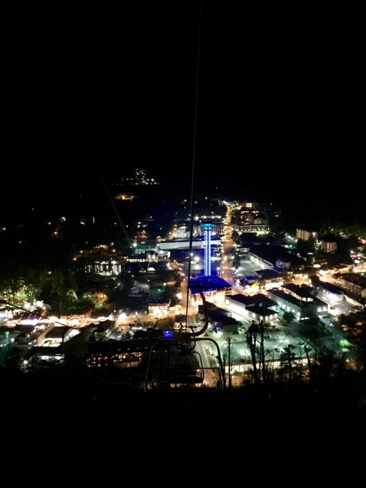 View on way down from the Gatlinburg SkyLift