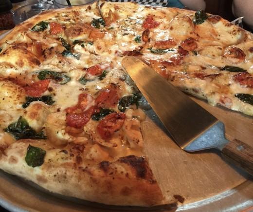 Pizza at Smokey Mountain Brewery