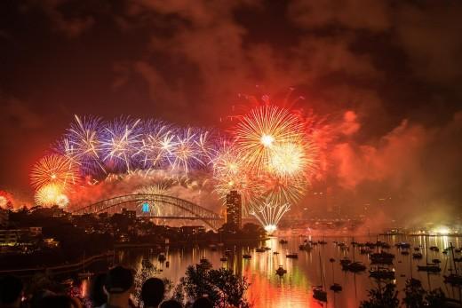 New Years Eve Celebration on Sydney Harbour