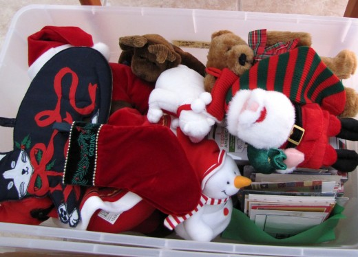 Christmas decorations - time to place them all over the house. If I set aside enough time, then I won't feel stressed and overwhelmed while decorating. Playing Christmas music also helps put me in the mood.