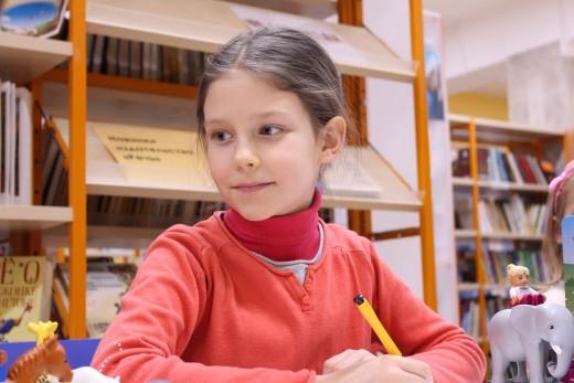 An English language learner writing.