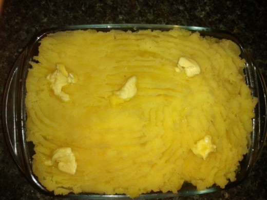 Butter the Top Surface of the Cottage Pie