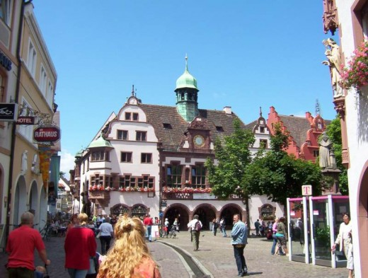 Freiburg town hall square