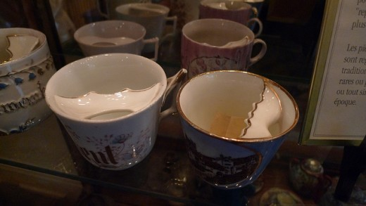 Mustache Tea Cups