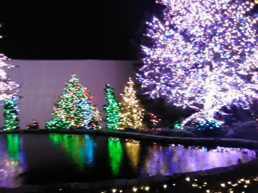 More amazing lights outside of the Washington Temple in Kensington, Maryland