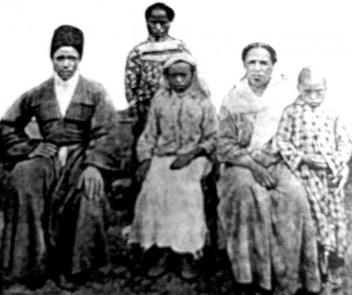 "Photo of Afro-Abkhazian family from ""Caucasus. Volume I. The peoples of the Caucasus"", St. Petersburg., Kovalevsky P. I., 1914"