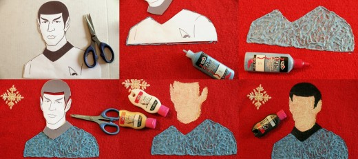 Making a Spock ugly sweater to give as a Christmas gift to a Trekkie is easy with this DIY tutorial