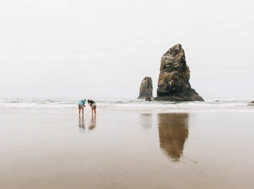 Beachcombing is an engrossing hobby.