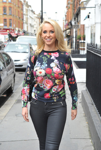 Josie Gibson is all smiles as she is seen on her way to promote her new 'Strength and Shred' fitness dvd in London. (Sept. 12, 2013 - Source: PacificCoastNews.com)