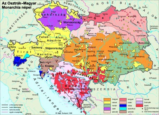 Austro-Hungarian ethnic borders may look clustered on a map, but the reality of nationalism and nationhood was even more complex and fragmented.