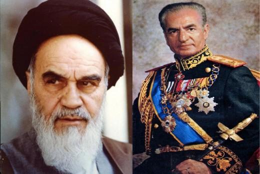 The Shah of Iran and his nemesis Khomanei