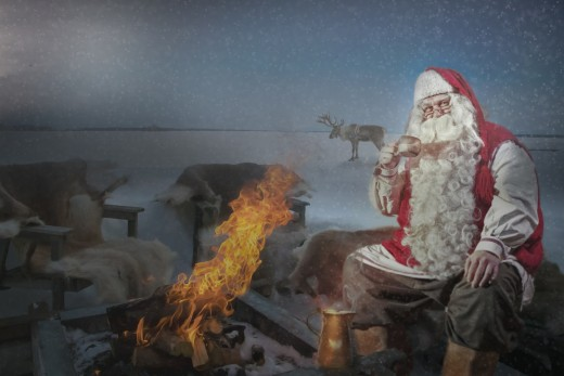 A nice warm fire would feel good up in Lapland or the North Pole.