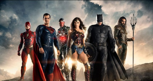 The promotional poster of Justice League