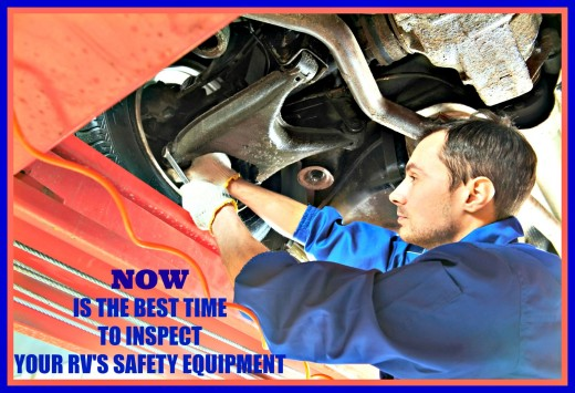 Your RV travel safety depends on keeping your equipment in good working condition.