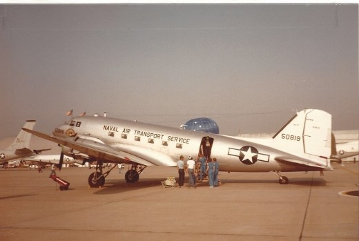 A Confederate Air Force C-47 at Andrews AFB, MD, May 1983.