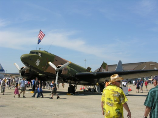 A C-47 in Vietnam Era markings.  Andrews AFB, May 2012.