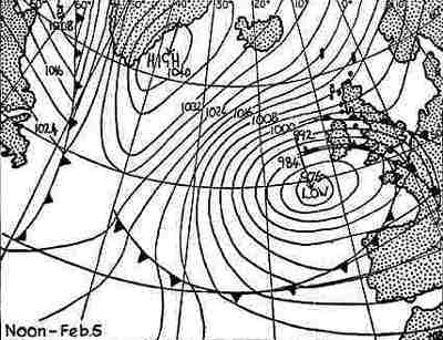 The outlook for February 5th, 1963 - it's not just grim up North, but everywhere,